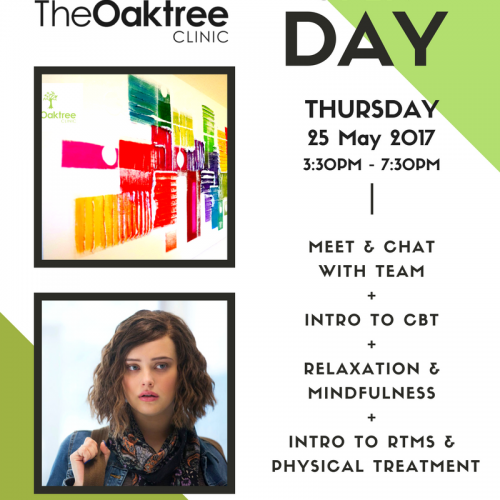 UPCOMING – Oaktree Open Day: 25th May